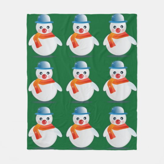 Suave Snowman Fleece Blanket