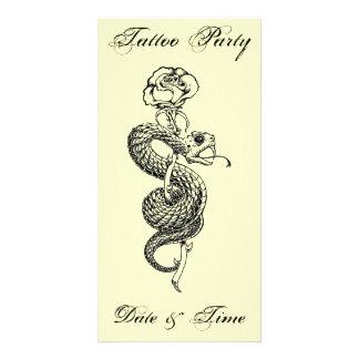 Sub Rosa tattoo party card Photo Card Template