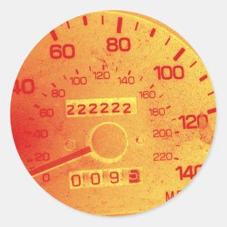 Subaru 222,222 Mile Odometer Round Sticker
