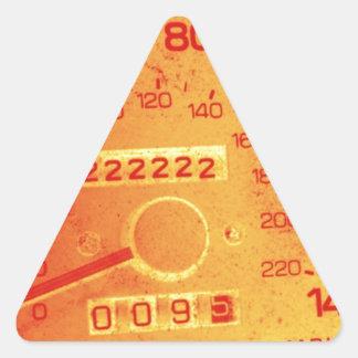Subaru 222,222 Mile Odometer Triangle Sticker