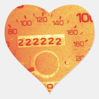 Subaru 222,222 Mile Odometer Heart Sticker