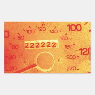 Subaru 222,222 Mile Odometer Rectangular Sticker