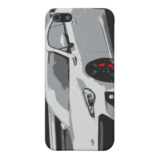 Subaru BRZ in White Case For iPhone 5/5S