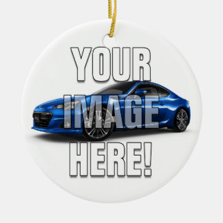 Subaru BRZ Photo - Add your car Ceramic Ornament