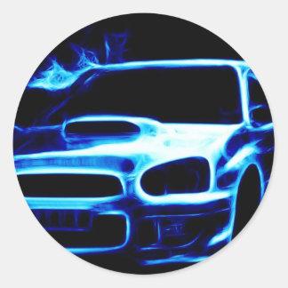 Subaru Impreza Round Sticker