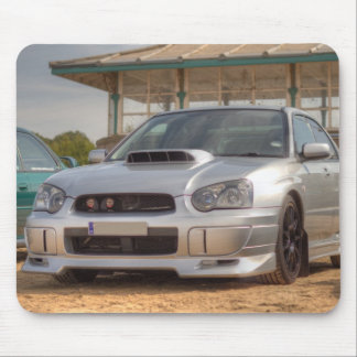 Subaru Impreza STi - Body Kit (Silver) Mouse Pad