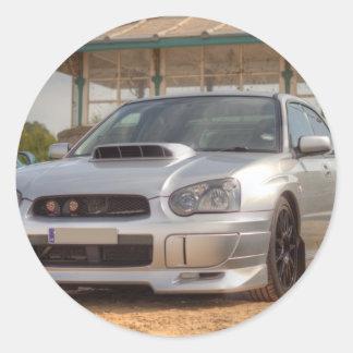 Subaru Impreza STi - Body Kit (Silver) Classic Round Sticker