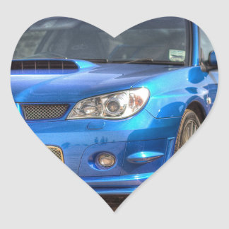 "Subaru Impreza STi ""Hawkeye"" in Blue Heart Sticker"