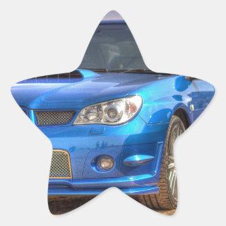 "Subaru Impreza STi ""Hawkeye"" in Blue Star Sticker"
