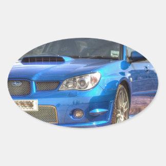 "Subaru Impreza STi ""Hawkeye"" in Blue Oval Sticker"