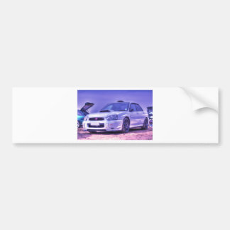 Subaru Impreza WRX STi Spec C in White Bumper Sticker