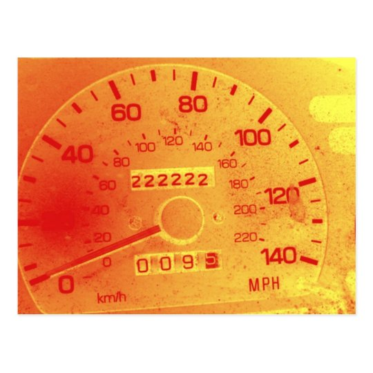 Subaru Odometer POstcard