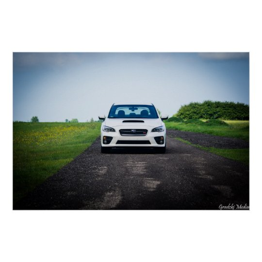 Subaru STi Front End Poster