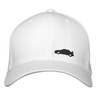 Subaru Wrx car silhouette white hat black logo Embroidered Hat