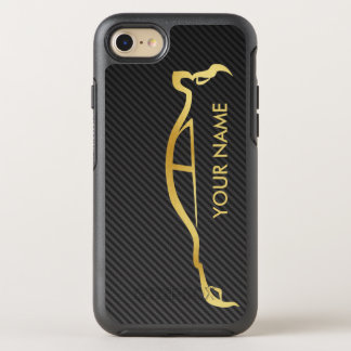 Subaru WRX Impreza Gold Silhouette OtterBox Symmetry iPhone 7 Case