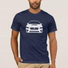 Subaru WRX STI Outline T-Shirt Dark Mens