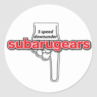 Subarugears 5 speed downunder stickers