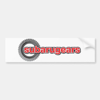 Subarugears Bumper Sticker