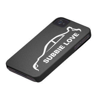 Subbie Love White Silhouette Logo iPhone 4 Cases
