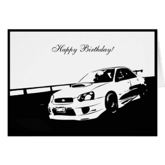 Subbie Rolling Shot Greeting Card