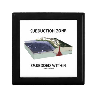 Subduction Zone Embedded Within (Geology Humor) Gift Box