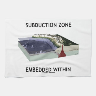 Subduction Zone Embedded Within (Geology Humor) Kitchen Towel