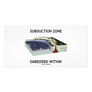 Subduction Zone Embedded Within (Geology Humor) Photo Card Template