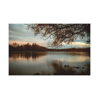 Subdued a Sunset on the Sacramento River Canvas Print