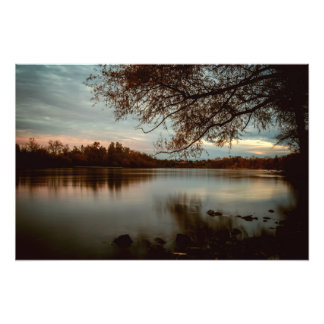 Subdued a Sunset on the Sacramento River Photo Print