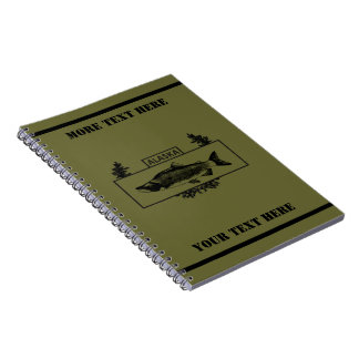 Subdued Alaska Combat Fisherman Badge Spiral Note Book