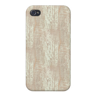 Subdued Coastal Pine Wood Grain Look Cover For iPhone 4