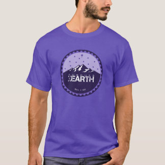 Subdued Earth Round Logo [Purple] T-Shirt