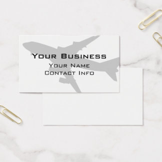 Subdued Jet Aircraft Silhouette Business Card