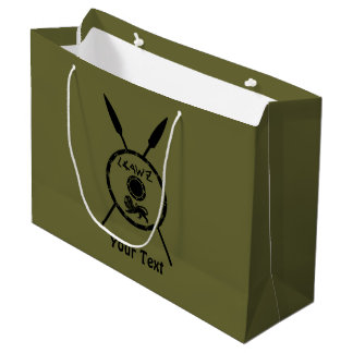 Subdued Maccabee Shield And Spears Large Gift Bag