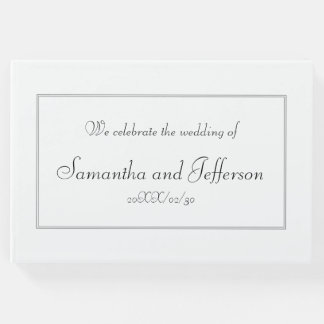 Subdued & Respectable Marriage Guestbook