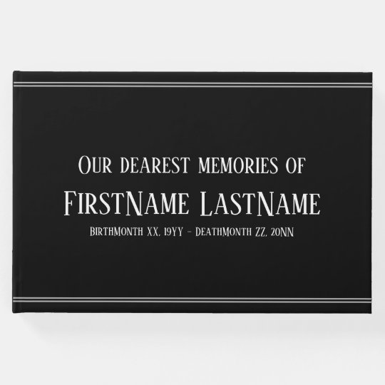 Subdued, Simple Sympathy Guestbook