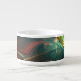 Subdued Strength Abstract Chili Bowl