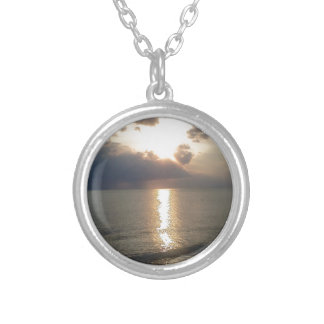 Subdued Sunset 2 Silver Plated Necklace