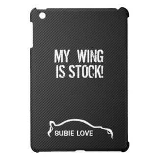 Subie Love - White on Faux Carbon Fiber Cover For The iPad Mini
