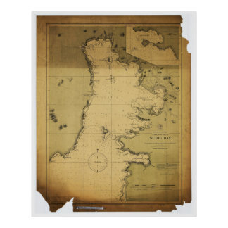 Subig (Subic) Bay Luzon Philippines 1902 Map Poster