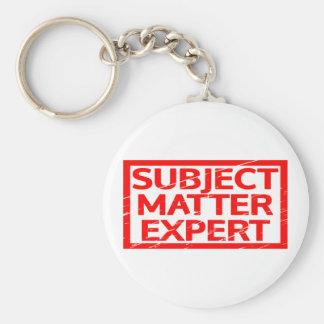 Subject Matter Expert Stamp Keychain