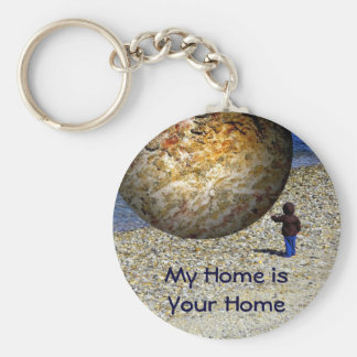 Subjective Reality Kid's Fantasy Basic Round Button Keychain