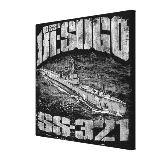Submarine Besugo Stretched Canvas Print