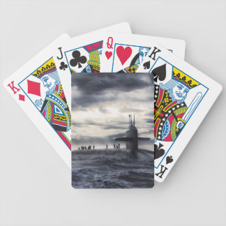 Submarine Bicycle Playing Cards