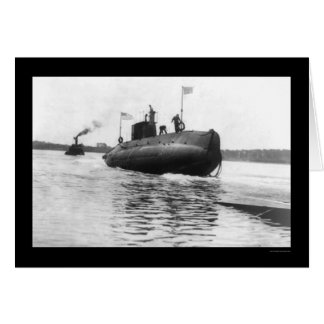 Submarine Launch Navy 1909 Greeting Card