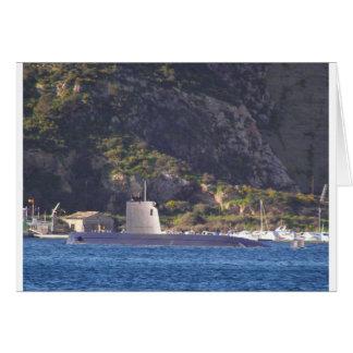 Submarine putting to sea. card