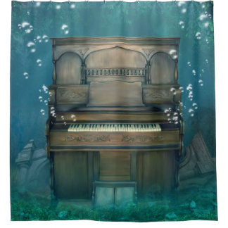 Submerged Piano Shower Curtain