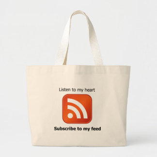 subscribe to my feed jumbo tote bag