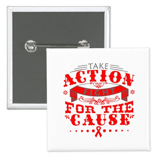 Substance AbuseTake Action Fight For The Cause Pin