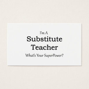Substitute teacher business cards business card printing zazzle ca substitute teacher business card colourmoves